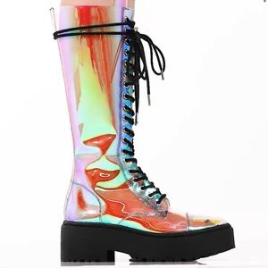 Renegade DOllskill See through rainbow boots